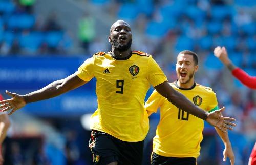 Romelu Lukaku marcou dois gols da Bélgica contra a Tunísia (Foto: Hassan Ammar/Associated Press/Estadão Conteúdo) - Foto: Hassan Ammar/Associated Press/Estadão Conteúdo