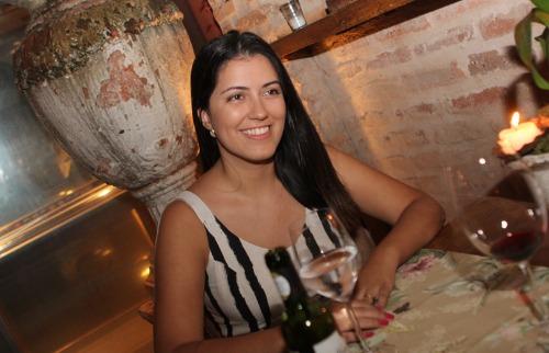 Bianca Marangoni saboreou delícias no Amici Ristorante; veja mais fotos na galeria (foto: Murilo Corte / ME) - Foto: Murilo Corte / ME