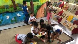 Escola Dalila Galli faz exposição de livros para receber alunos