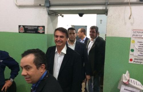 Wesley Alcântara - Bolsonaro registra boletim de ocorrência após levar ovada, no Centro de Ribeirão Preto (Foto: Wesley Alcântara)