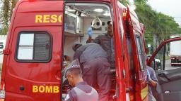 Colisão entre motos deixa três feridos na Getúlio Vargas