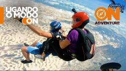 Boggie dos Lençóis Maranhenses: o lugar mais bonito para se saltar de paraquedas no Brasil.