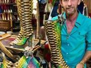 Empresário que fez bota para Shania lança calçado de R$ 100 mil na Festa do Peão