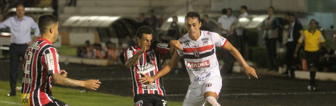 Botafogo enfrentou o São Paulo na noite desta quarta-feira (22) no Estádio Santa Cruz, em Ribeirão Preto - Foto: Matheus Urenha / A Cidade