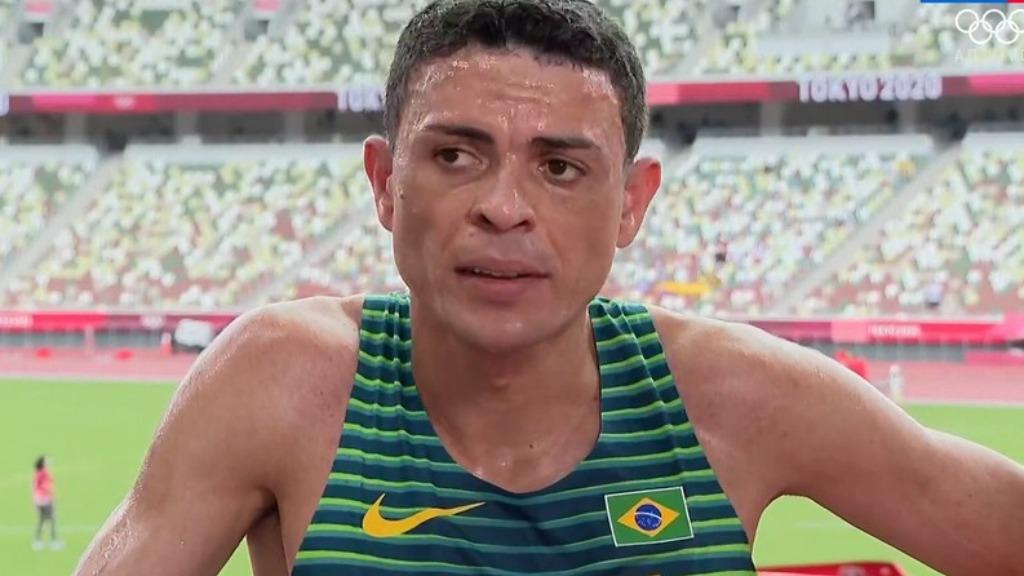 Altobeli Souza ficou fora da final dos 3.000m com obstáculos (Foto: Reprodução/SporTV) - Foto: Reprodução/SporTV