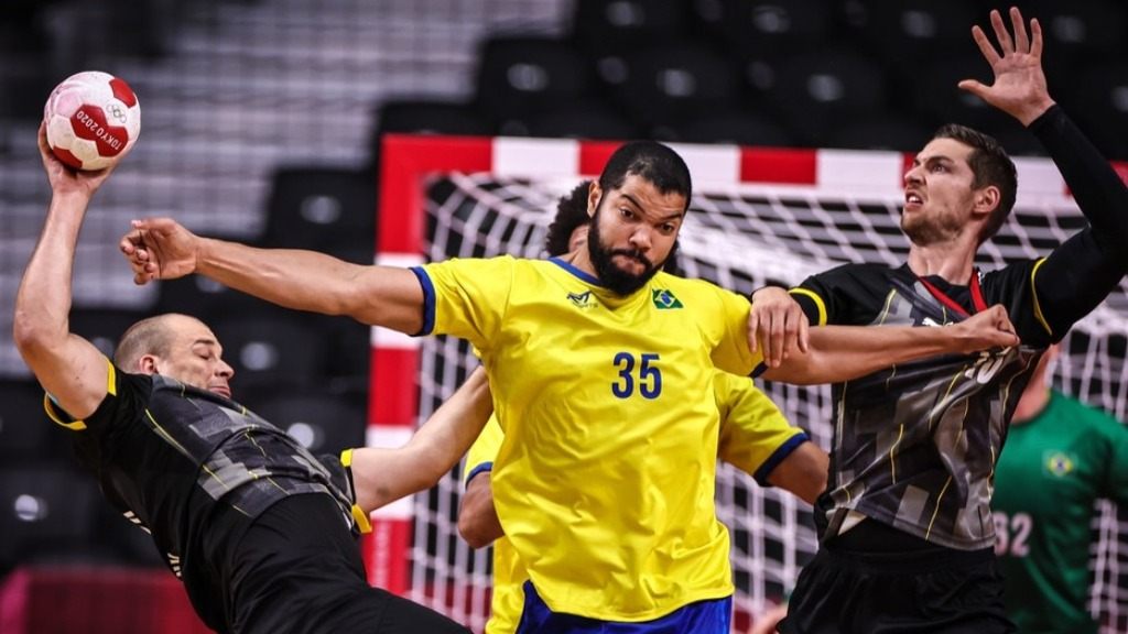 Brasil perdeu para a Alemanha e foi eliminado do torneio de Handebol masculino nas Olimpíadas (Foto: Jonne Roriz/COB) - Foto: Jonne Roriz/COB