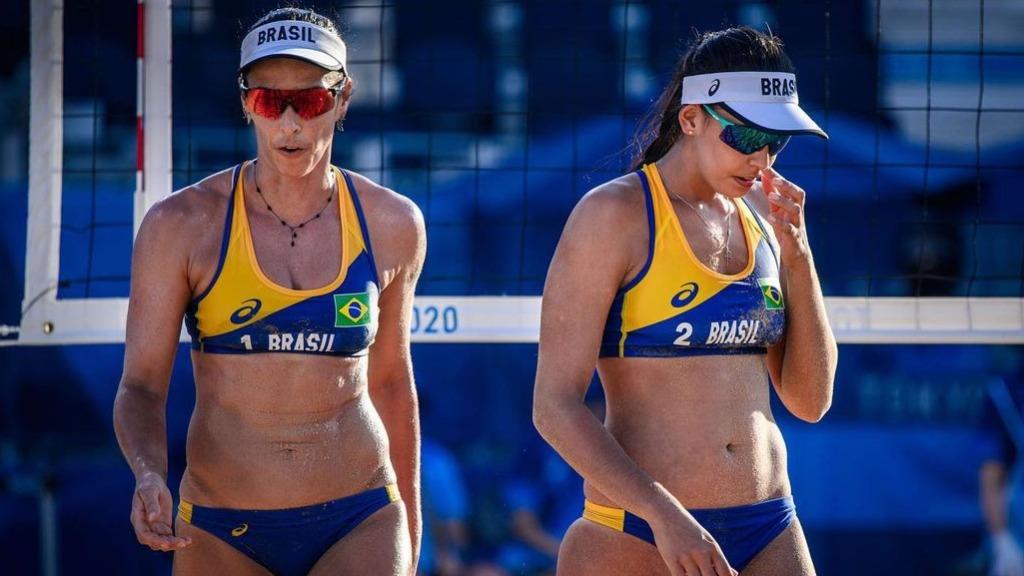 Ágatha e Duda foram eliminadas nas oitavas do Vôlei de Praia feminino (Foto: Volleyball World) - Foto: Volleyball World