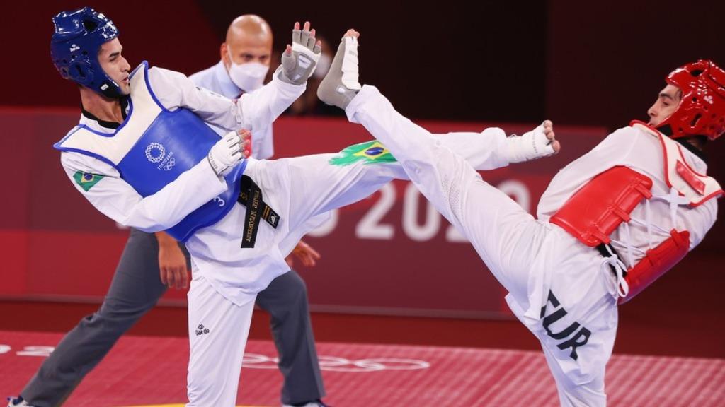 Netinho foi eliminado na estreia do Taekwondo nos Jogos Olímpicos (Foto: Reuters) - Foto: Reuters