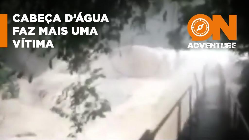 Cabeça dágua faz mais uma vítima no litoral paulista. - Foto: Marcia Lucena