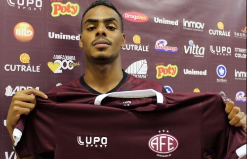 Da reportagem - Caíque é oficializado como novo reforço da AFE (Thiago Carvalho/AFE)