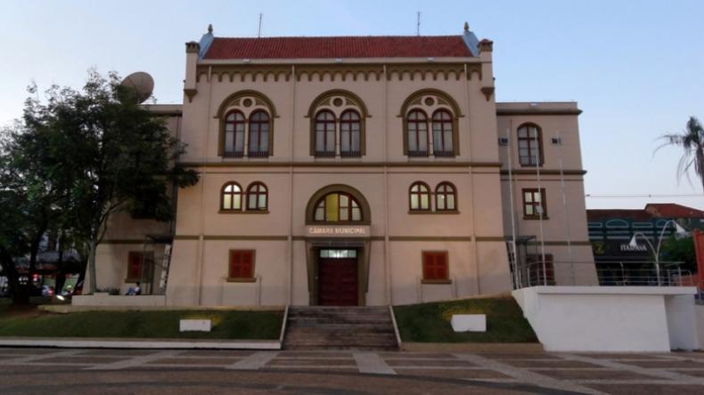 Câmara Municipal de São Carlos. Foto: Divulgação