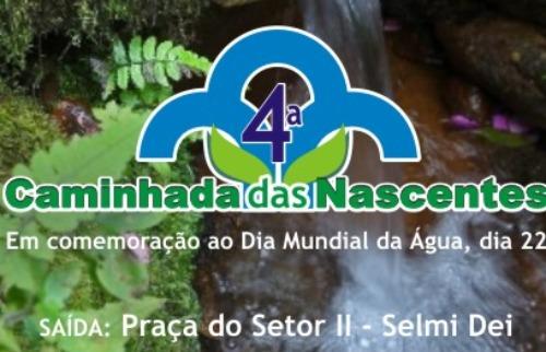 Da reportagem - Caminhada será em comemoração ao Dia da Água (Divulgação)