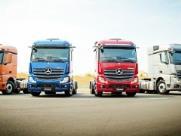 Caminhões Mercedes-Benz com conctividade