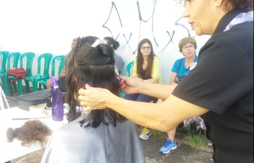 Campanha Solidária de doação de cabelo, na UFSCar, em São Carlos - Foto: ACidade ON - São Carlos