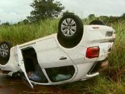 Família fica ferida em acidente de carro na rodovia Anhanguera