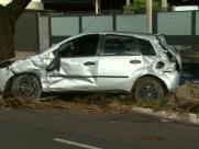 Homem capota o carro na Costa e Silva na zona Norte de Ribeirão