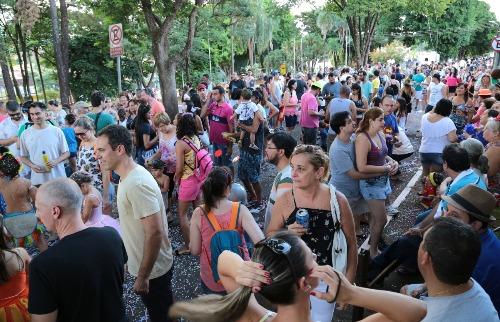 Renato Lopes / Especial - Adultos e crianças curtiram o Carnaval em Bonfim Paulista na tarde deste domingo (26)