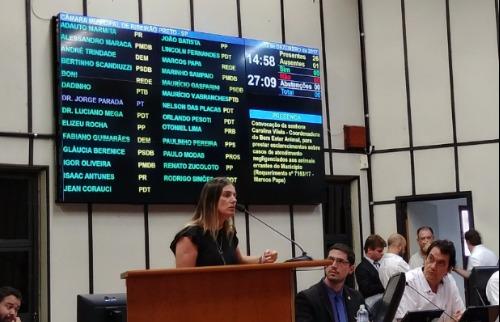 Marcelo Fontes - Carolina Vilela, afirmou que precisou colocar recurso do bolso para Coordenadoria para funcionar (Foto: Marcelo Fontes/ A Cidade)