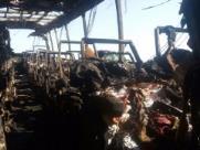 Ônibus pega fogo e dois veículos são incendiados durante a madrugada