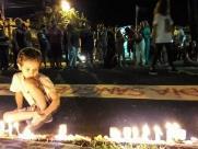 Com lágrimas e discursos fortes, mulheres lembram Marielle e cobram fim da violência
