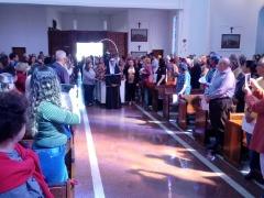 Católicos lotam igreja em homenagem a padroeira. Foto: Denny Césare/Código 19 - Foto: Denny Césare/Código 19