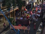 Manifestantes vão às ruas de Araraquara contra Jair Bolsonaro