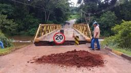 Chuva causa queda parcial de ponte entre Boa Esperança e Gavião