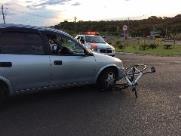 Ciclista é atropelado por veículo na Rua Mauricio Galli