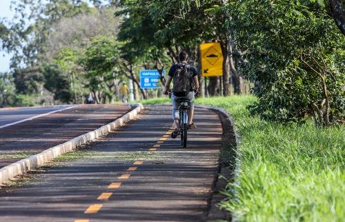 Ciclovia na Unesp (Foto: Amanda Rocha/ACidadeON) - Foto: Amanda Rocha