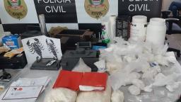 Dise estoura refinaria de cocaína em São Carlos