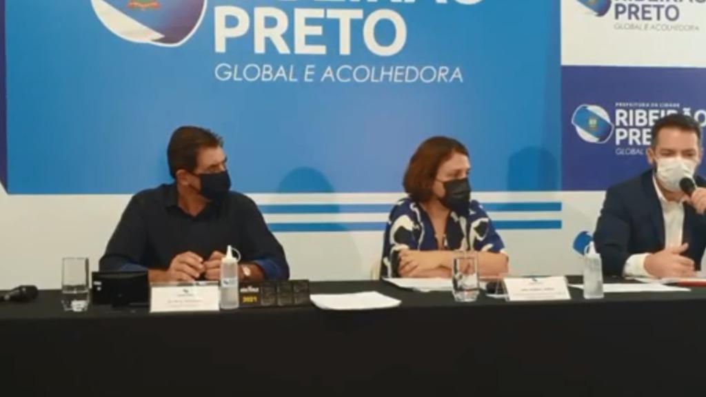 Prefeitura realizou coletiva nesta segunda (Imagem: Reprodução) - Foto: ACidade ON - Ribeirão Preto