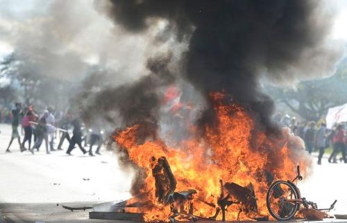 Marcello Casal Jr/Agência Brasil - Polícia Militar e manifestantes entraram em confronto durante protesto contra o governo do presidente Michel Temer