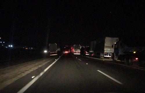 Divulgação - Paralisação de caminhoneiros causa congestionamento de 6 km na Washington Luís