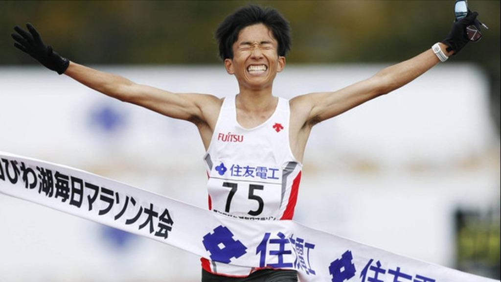 Japonês é o primeiro atleta não africano a correr abaixo dos 2h05 em maratona.Foto: Divulgação/World Athletics - Foto: Foto: Divulgação/World Athletics