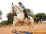 Victoria sonha em ter um cavalo e participar das Olimpíadas