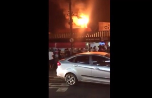 Redes Sociais - Princípio de incêndio em bar na zona Leste de Ribeirão; clique para assistir