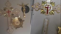 Homem é preso após furtar cruz de igreja em Dourado