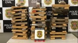 Polícia Civil apreende mais de 100 kg de maconha na zona Norte
