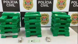 Polícia Civil prende irmãos com 59 tilojos de maconha em carro
