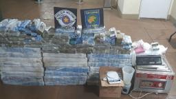 BAEP apreende 441 tijolos de maconha em Araraquara