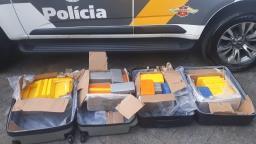 Polícia apreende 62 kg de cocaína em Paulínia