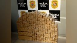 Região: Homem é preso com 400 kg de maconha em casa