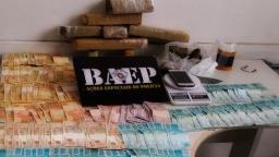 Baep prende homem com maconha e mais de R$ 11 mil