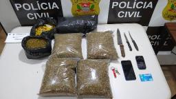 Jovem é preso pela Dise por tráfico de drogas em Araraquara