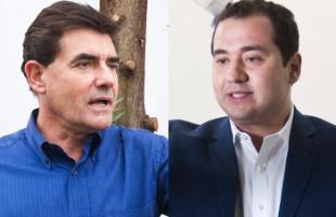 Milena Aurea / A Cidade - Os candidatos Duarte Nogueira (PSDB) e Ricardo Silva (PDT) durante campanha para o segundo turno