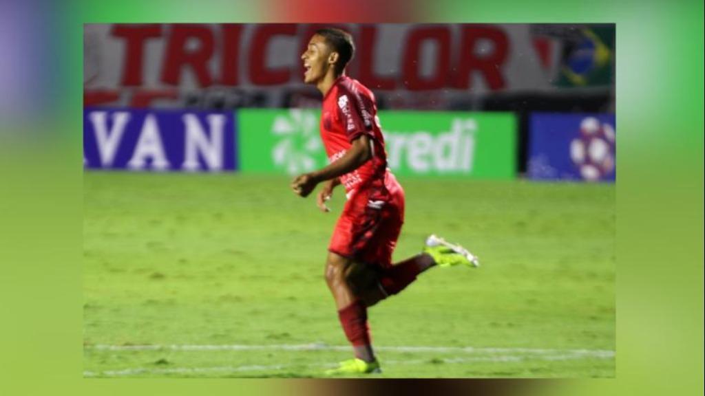 Atacante Dudu Hatamoto (foto), do Pantera, comemora gol sobre o São Paulo (Foto: Divulgação / Agência Botafogo S.A.) - Foto: Redes Sociais