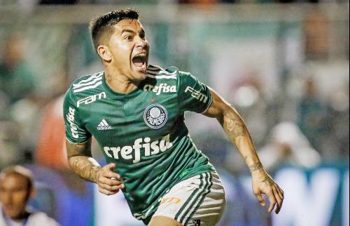 Dudu festeja o gol da vitória marcado contra o Bahia (Foto: Thiago Bernardes / FramePhoto / Folhapress) - Foto: Foto: Thiago Bernardes / FramePhoto / Folhapress