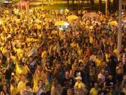 Eleitores de Bolsonaro comemoram em Ribeirão Preto