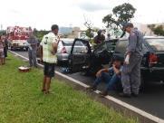Engavetamento entre cinco veículos na Washington Luís deixa quatro feridos - Foto: ACidade ON - São Carlos