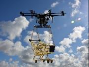 Começou teste de entregas com drone.